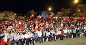 Şanlıurfa, Demokrasi Nöbetinin son gecesini coşkuyla bitirdi