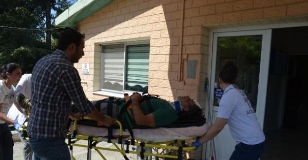 Araç Tarlaya Uçtu: 2 Ağır Yaralı