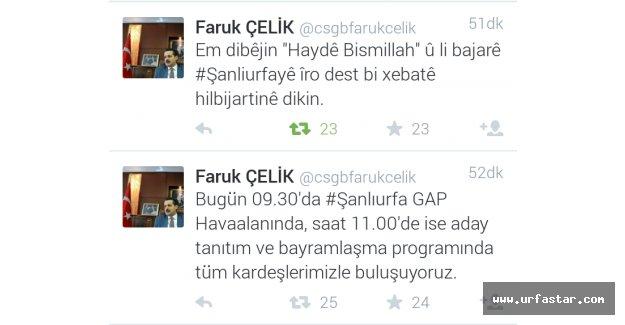 Bakan Çelik seçim kampanyasını 3 dilde tweet atarak başlattı