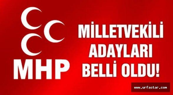 İşte MHP'nin Urfa adayları