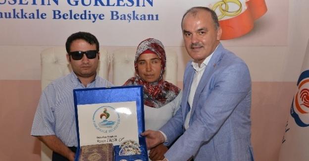 Pamukkale Belediyesi'nden Evlenen Çiftlere Evlilik Seti