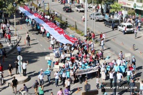 Şanlıurfa'da Kardeşlik Yürüyüşü
