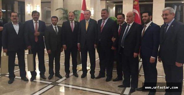 Erdoğan, Urfalı kanaat önderleriyle buluştu