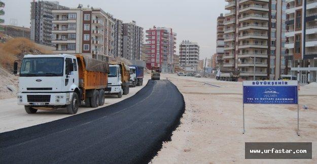 O yolda asfalt çalışması başladı