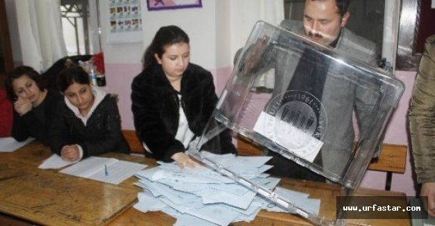 Şanlıurfa'da oylar sayılıyor