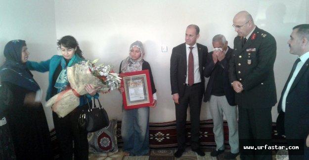 Şehit Beylem'in ailesine şehadet belgesi verildi