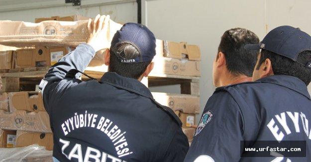 Eyyübiye Belediyesinden kaçak et operasyonu