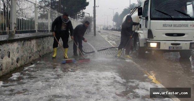 Hilvan'da Kar Temizliği