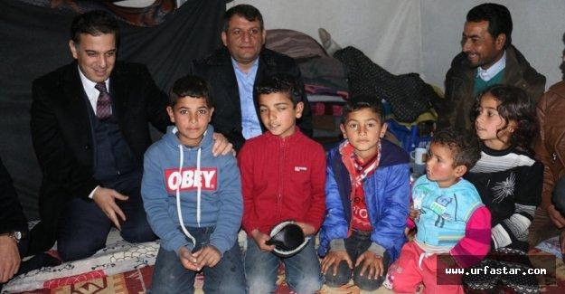 Suriyeli mültecileri ziyaret ettiler