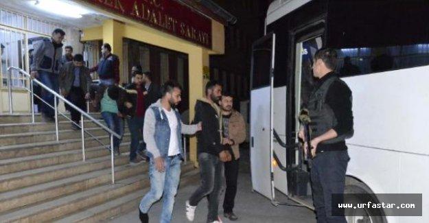 Siverek'te 5 kişi tutuklandı...