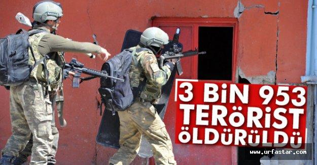 3 bin 953 terörist öldürüldü