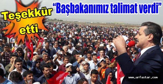 Çelik: Ankara Urfa'nın ayağına geldi