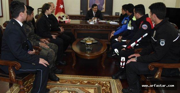 POLİS HAFTASINDA VALİYİ ZİYARET ETTİLER