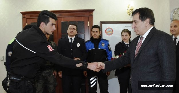 Vali Küçük polis teşkilatını kabul etti