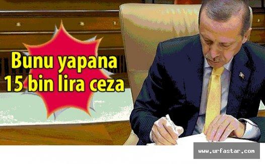 Ve Erdoğan onayladı...