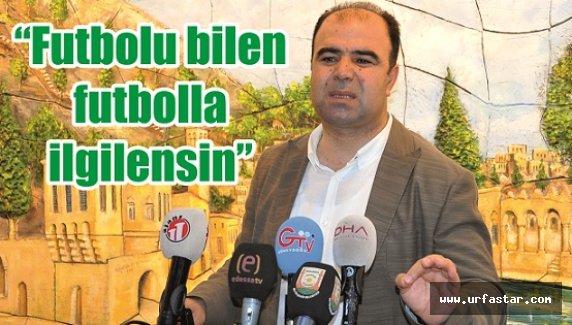 Başkan Çiftçi'den Urfaspor açıklaması…