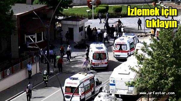 Gaziantep'teki bombalı aracın patlama anı…