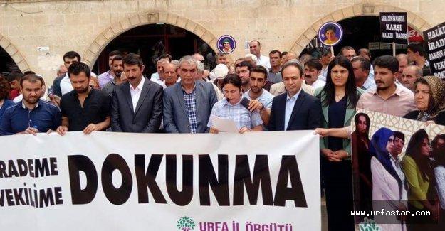 HDP Urfa vekilleri eylem yaptı!