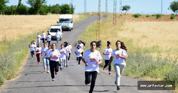 Hilvan'da altın ödüllü koşu