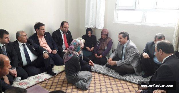Şehit polisin ailesini ziyaret ettiler