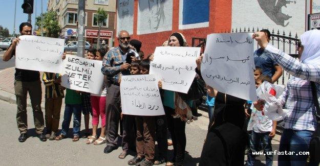 Suriyeliler Urfa'da eylem yaptı