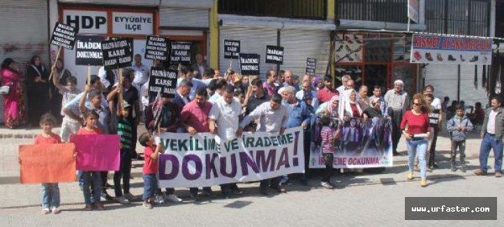 Urfa'da 'Vekilime Dokunma' eylemi