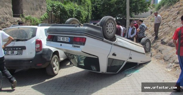 Otomobil takla attı!