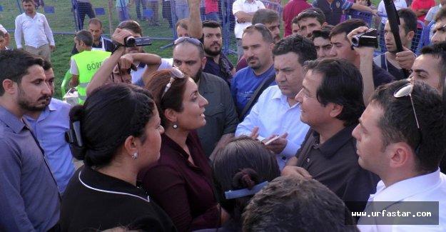 Polisle HDP'liler arasında gerginlik..