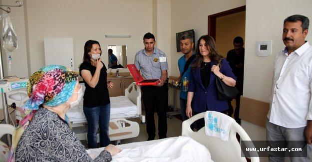 Harran TIP Hastalarla bayramlaştı