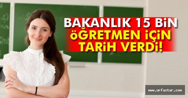 15 bin sözleşmeli öğretmen istihdam edilecek