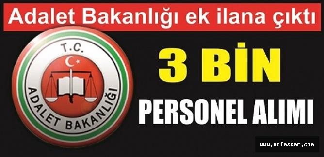 Adalet Bakanlığı 3 Bin kişi alıyor