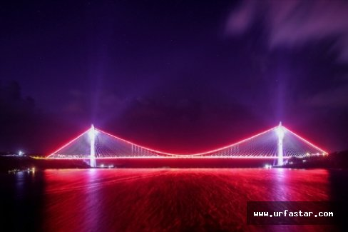 Bugün açılışı yapılan köprü de muhteşem görüntü