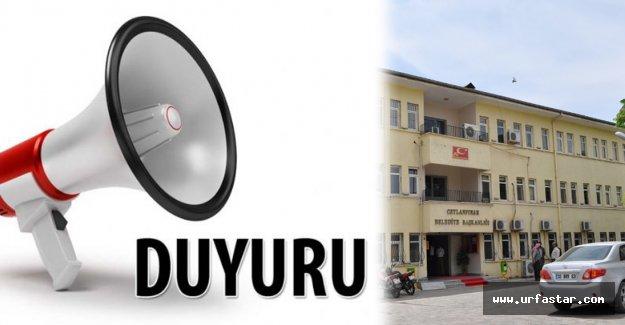 Ceylanpınar Belediyesi uyardı