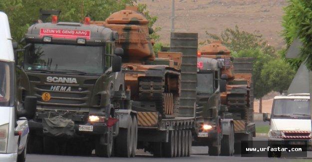 Flaş.. Urfa'dan sınıra tank sevkiyatı