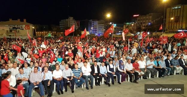 Urfa'da, Demokrasi Nöbeti coşkuyla sona erdi