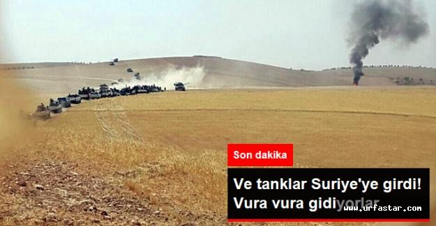 Türk tankları Suriye'de mevzileri bombalıyor