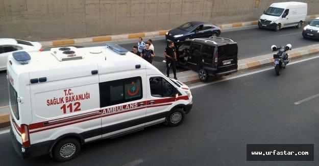 Urfa'da otomobil takla attı..