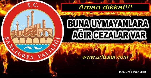 Urfa'da tedbirler arttırıldı