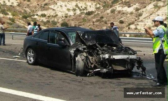 Urfalı Milletvekili trafik kazası geçirdi