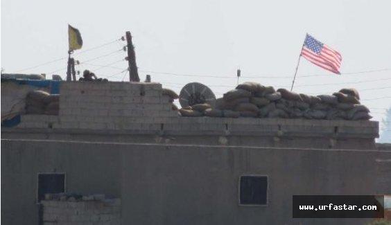 Telabyad'a Amerika bayrağı asıldı