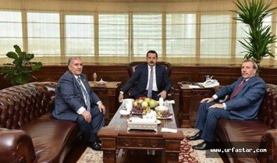 Akyürek, Viranşehir'in sorunlarını Bakan'a anlattı