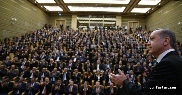 Erdoğan, Urfalı muhtarlarla buluştu