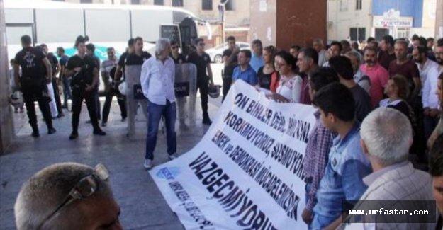 KESK üyeleri Ankara'ya tepki gösterdi