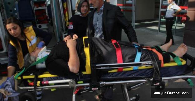 Urfa'ya gelirken kaza yaptılar...