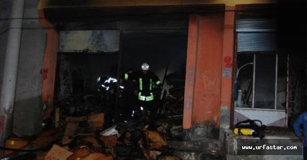 Haliliye'de çıkan yangın korkuttu