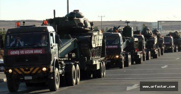 Tanklar Urfa'dan geçiş yaptı..
