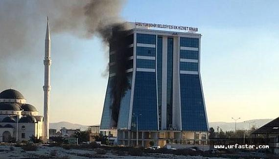 Urfa Büyükşehir Belediyesinde yangın!...