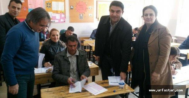 AK Partililer için sınav yapıldı...
