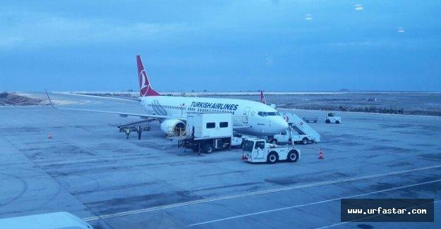 Antep uçakları Urfa'ya indi