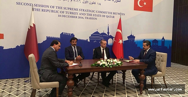 Erdoğan'ın huzurunda imzaladı. ..